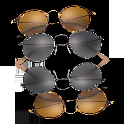 Iconische ronde zonnebrillen  Ray-Ban Round   Rosmalen 32fb13a13174